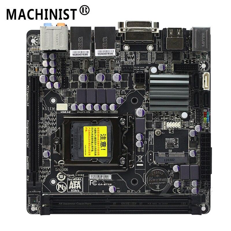 For Gigabyte GA-B75N Desktop Motherboard MB Intel B75 LGA 1155 Mini-ITX DDR3 16GB SATA3.0 USB3.0 100% Fully Tested Free Shipping