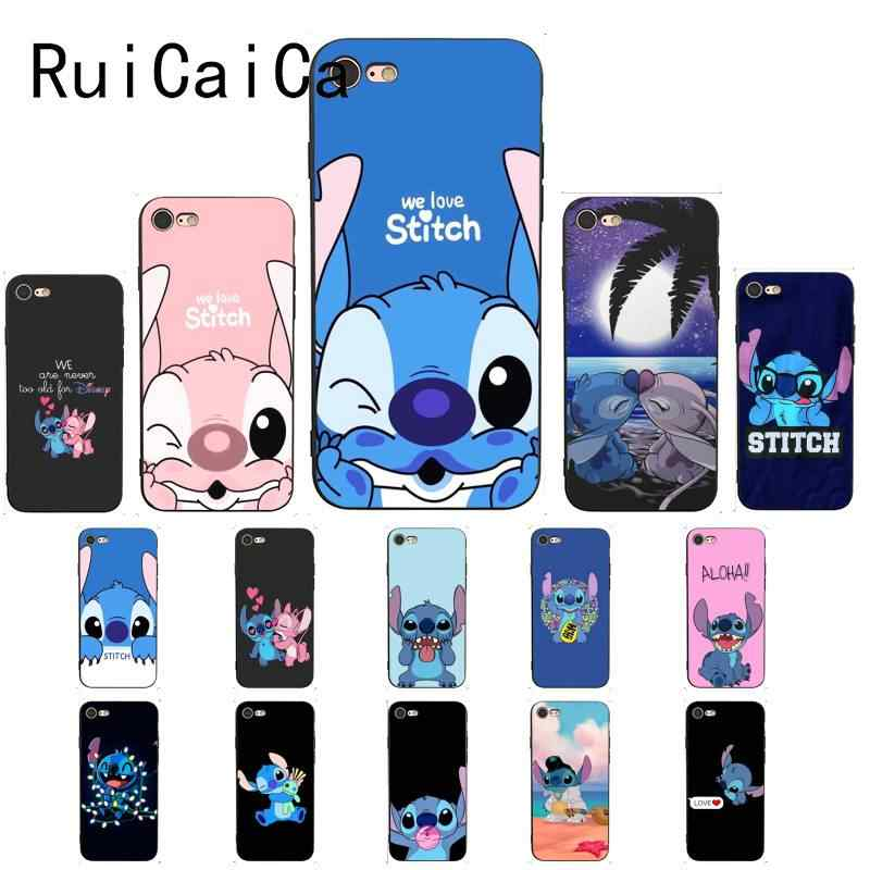 Ruicaica bonito dos desenhos animados Lilo Ponto Unique Luxury Design PhoneCase para iPhone 5 6 8 7 6 6S Plus 5S SE XR X XS MAX Coque Shell