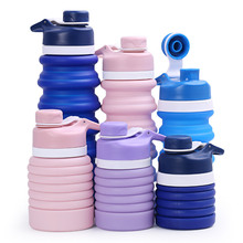 Portable Silicone Collapsible Water Bottle for Sport Outdoor Travel Retractable Folding Bottles My Drinking Kettle 550ML