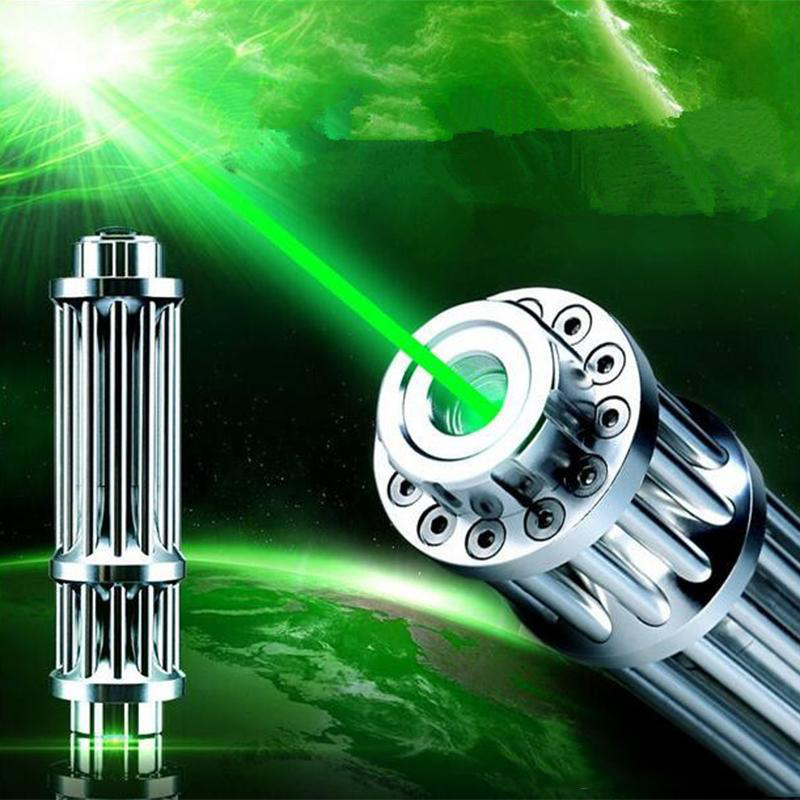 High Power Green Laser Pointer Pen 5mW 2in1 Star Powerful Lazer  Pointer Burning Beam Red Laser Point Toy