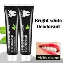 105g Teeth Whitening Toothpaste Bamboo Natural Activated Charcoal Oral Hygiene Toothpaste Tooth Cleaning Removes Stains