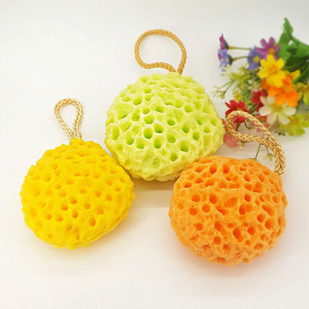 Newest Cotton Body Scrubber Massage Washing Soft Kids Shower Brushes Baby Sponge Bath Cleaning Honeycomb Face Puff Bathroom Tool