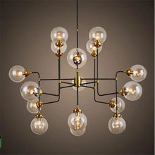 Modo lámpara rústica Loft Vintage Industrial lámpara brillo cocina tienda restaurante arte decoración colgante de burbuja de cristal de la lámpara
