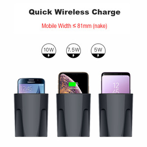 Image 2 - X9 Car QI Wireless Charger Cup Dock Cradle for iPhone 11 Pro MAX Samsung 10W Quick Wireless Car Charger Cup External USB Type C