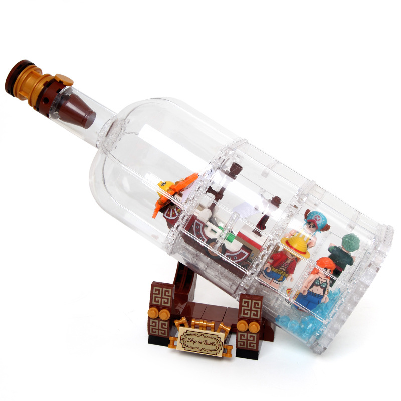 Lepinblocks Sy6295 Sy6294 Pirate Ship In The Bottle Lepining 3d2y Techinc Playmobil <font><b>21313</b></font> Blocks Playmobil One Pieces Toys image