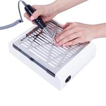 Aspiradora de polvo para uñas, equipo de salón de manicura y pedicura, con ventilador potente de 40W