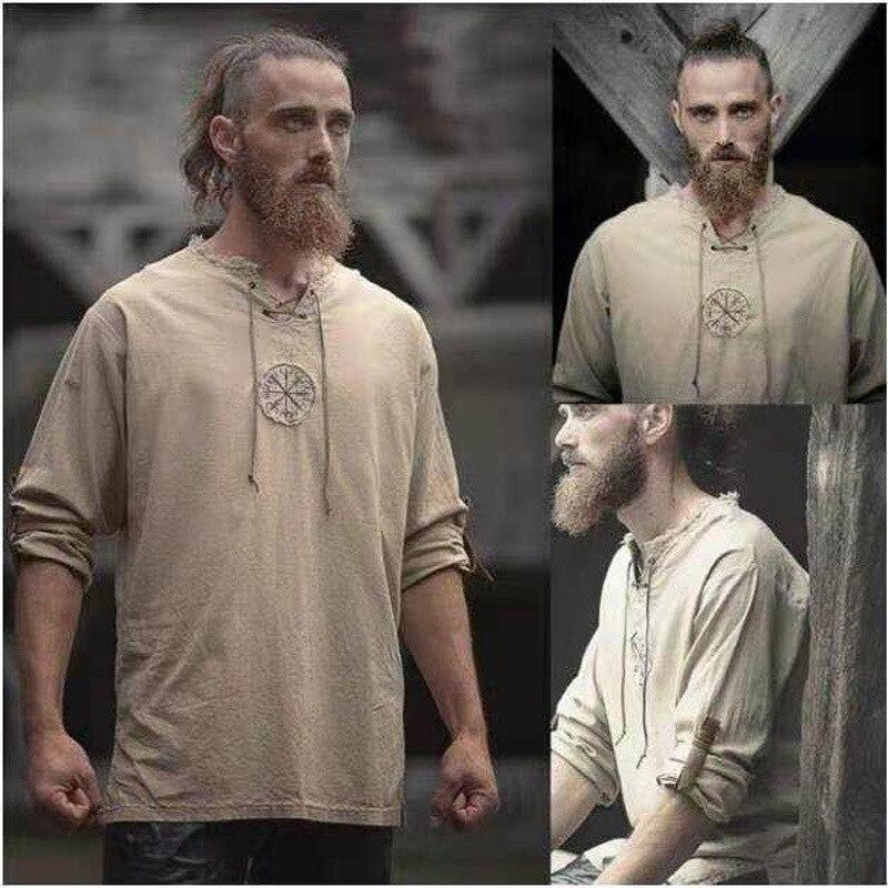 Long sleeve Linen Shirt linen simple polychrome cotton shirt cardigan round collar fashion dual