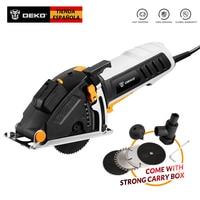 DEKO Mini Circular Saw Power Tools with Laser, 4 Blades, Dust passage, Allen key, Auxiliary handle, BMC BOX Electric Saw