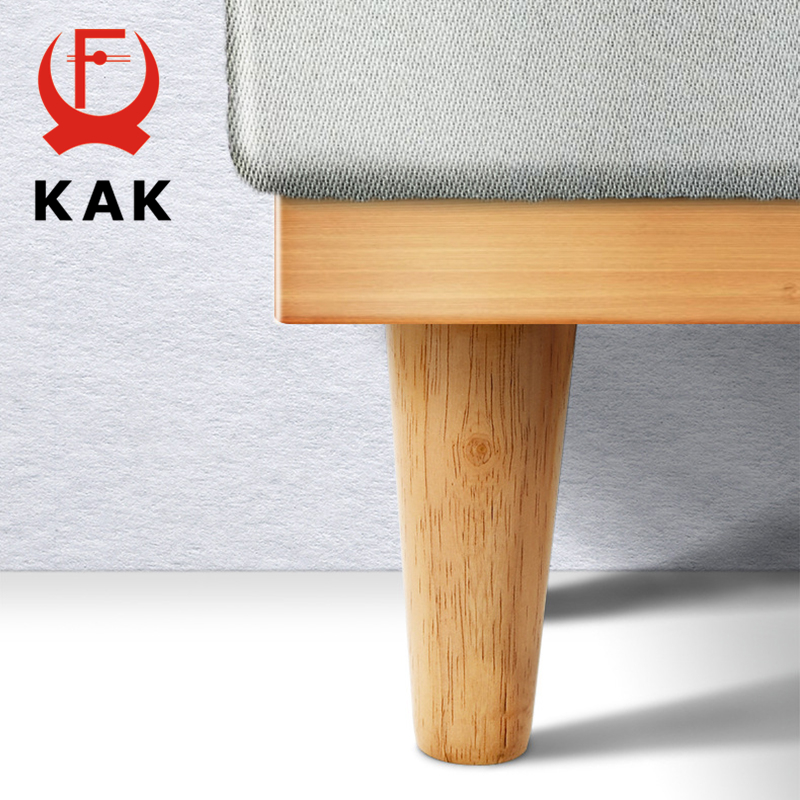 KAK Natural Solid Wood Furniture Leg Table Feets Wooden Cabinet Table Legs Fashion Furniture Hardware Replacement For Sofa Bed