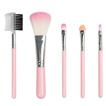 5pcs Makeup Tool Pink Brushes Set Eye Lip Brush Contour Blush Set Facial Powder Blush Brush Beauty Cosmetics Brush Kit maquiagem 5pcs pincel maquiagem makeup brushes set powder foundation contour eyeshadow blush facial coametic make up beauty brush tool set