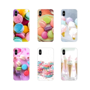 TPU Silicone Case For Apple iPhone X XR XS 11 12Pro MAX 4S 5S 5C SE 2020 6S 7 8 Plus ipod 5 6 dessert ice cream laduree Macarons