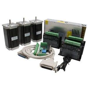 Image 1 - CNC נתב 3 ציר ערכת, 3pcs TB6600 מנוע צעד נהג + אחד הבריחה לוח + 3pcs Nema23 425 Oz ב מנוע + אספקת חשמל