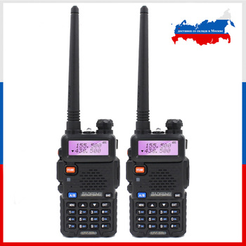 2PCS BaoFeng UV-5R Walkie Talkie 5W Two Way Ham Radio Baofeng UV5R VHF UHF 136-174Mhz & 400-520Mhz FM Transceiver - discount item  20% OFF Walkie Talkie