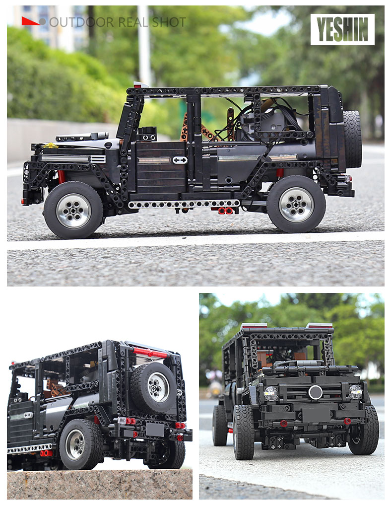 New APP RC G-Glass G500 AWD Wagon SUV Vehicle Fit Technic MOC 2425 Motor Power Function Building Blocks Bricks Toy Kid Birthday 33