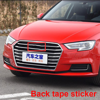 Free Disassembly Front Rings Emblem for Audi A3 A4L A5 A6L A7 A8L Q3 Q5 Q7 Car Styling Middle Grille Badge Refitted Logo Sticker