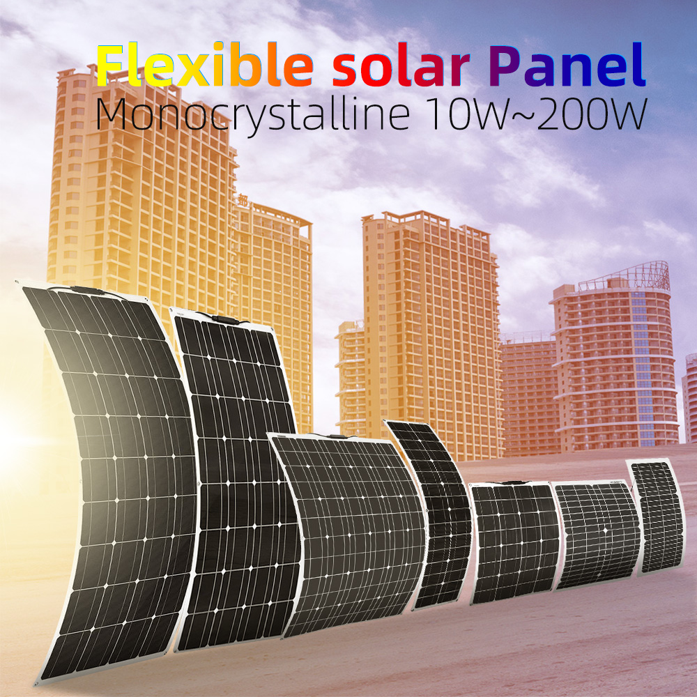 Xinpuguang 10w 20w 50w 100w 140w 150w Flexible solar panel Solar solar cell 12v car battery charger waterproof for RV PV Boat image