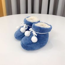 Brand New Newborn Plush Shoes Non-slip Baby Plush Socks Shoes Infant First Walkers Booties Soft Comfort Warm For 0-12M baby
