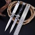 Складной нож с лезвием  высокотвердое лезвие с деревянной ручкой  Походный нож  уличные ножи из нержавеющей стали  охотничий нож для выживан...