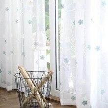 Стиль хипстер 2,8 м ширина двери синий узор шторы с тесьмой спальня гостиная шторы настраиваемые a Generati