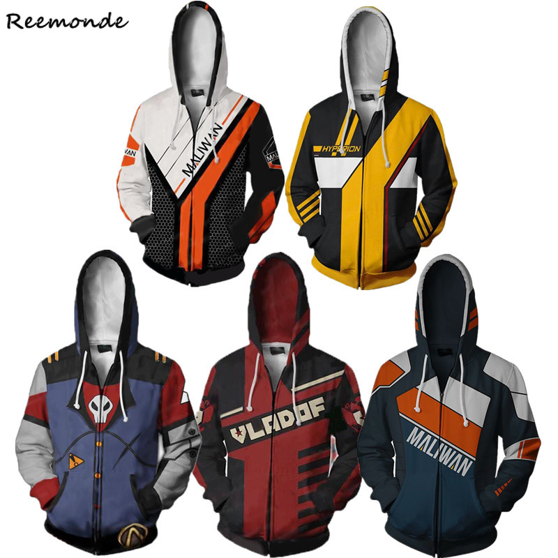 <font><b>Borderlands</b></font> 2 Hooded Sweatshirts Cosplay <font><b>Costume</b></font> Siren Maya Siren 2 3D Printed Sweater Hoodies Zipper Clothing Hip Hop Men Boys image
