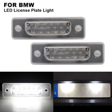2 pieces Car Clear Canbus Auto LED License Number Plate Light Tail White Bulbs For BMW E34 M5 1988-1996 E32 1986-1994