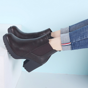 Image 3 - TKN Genuine boots women ankle boots winter snow boots genuine leather boots for women fashion zip chelsea boots new arrival 1902