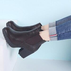 Image 3 - TKN véritable bottes femmes bottines hiver neige bottes en cuir véritable bottes pour femmes mode fermeture éclair chelsea bottes nouveauté 1902