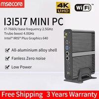 MSECORE i3 7100U i5 7260U i7 7660U игровой Мини ПК Windows 10 Настольный компьютер игровой ПК barebone linux intel HTPC DP HDMI 4K wifi
