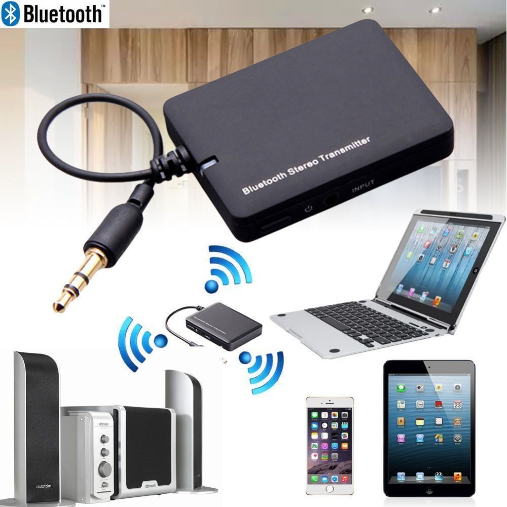 Mini Bluetooth Audio Transmitter Free Drive Transmit Audio Speaker Wireless Adapter 3.5 Mm Output For Laptop Tablet PC