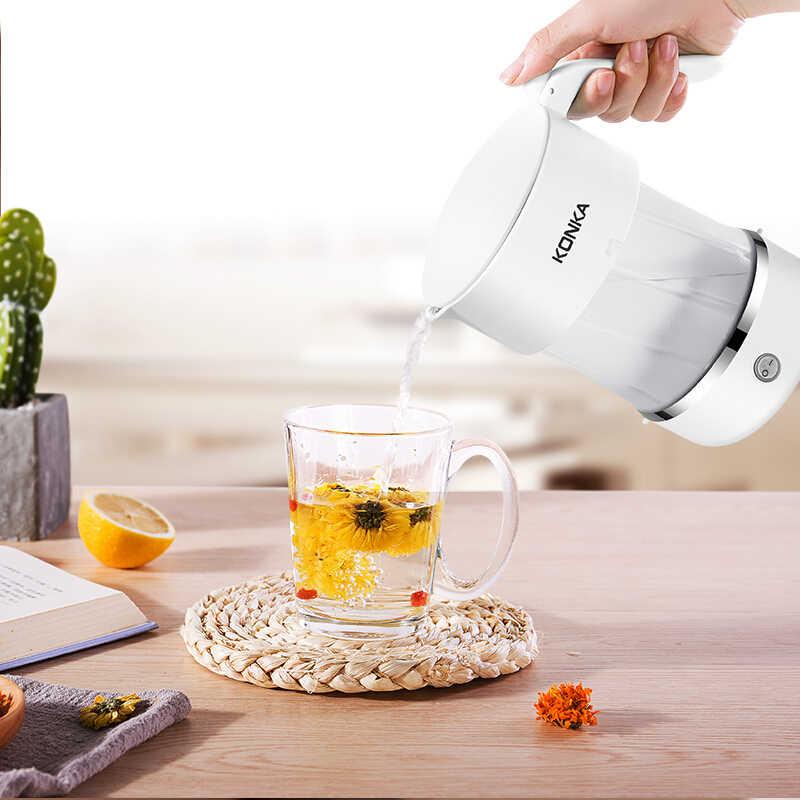 KONKA 0.5L Opvouwbare Draagbare Waterkoker Handheld Elektrische Water Fles Pot Auto Power-Off Bescherming Wired Ketel