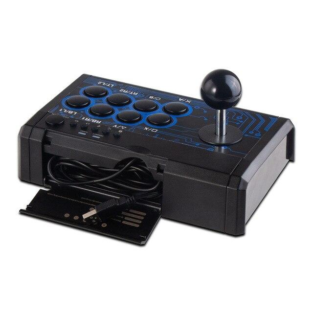 7 en 1 rétro Arcade Station bâton de combat jeu Joystick USB filaire Rocker pour PS3/PS4/Switch/XBoxOne (S)/360/PC/jeux Android
