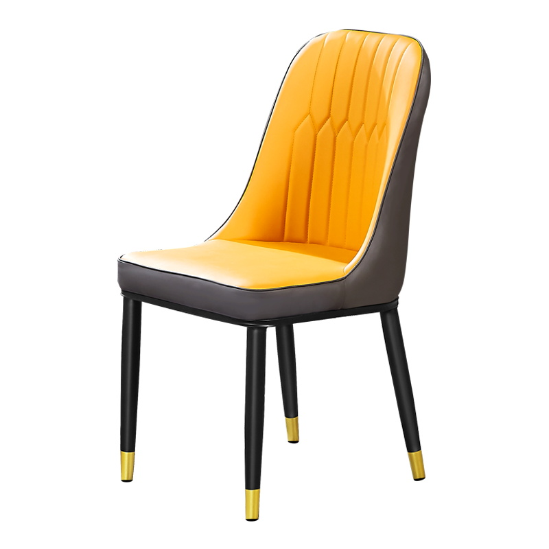 New Post-modern Dining Chair Nordic Restaurant Hotel Soft Bag Stool Leather Chair Simple Home Dining Table Chair