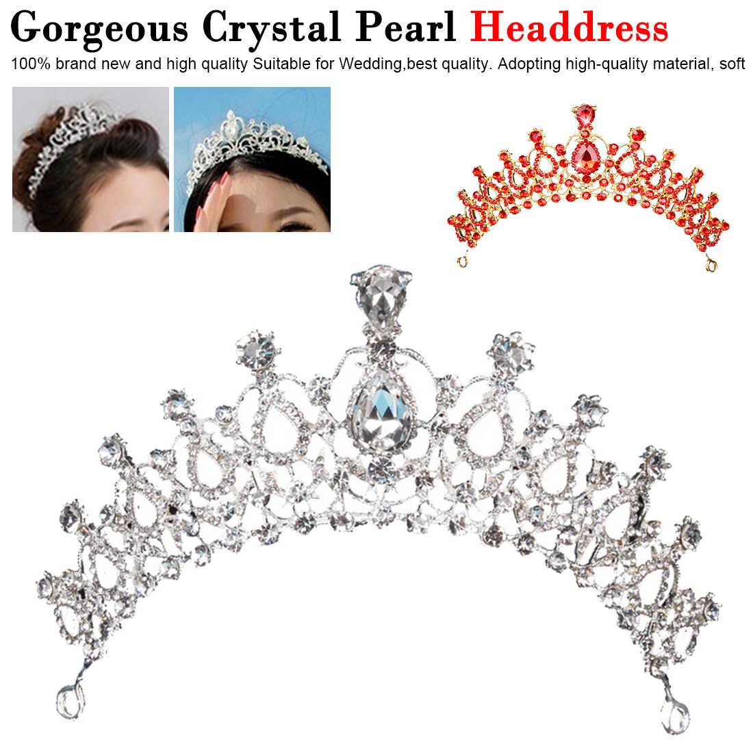 Femmes bal cheveux ornements 1 pièces magnifique argent cristal mariée diadème couronne mariée bandeaux mariage cheveux bijoux accessoires
