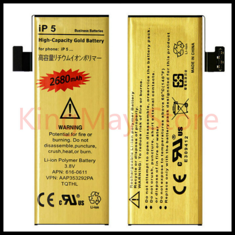 Hot selling bateria iphone 5 Zero cycle High Capacity Golden battery for iPhone 5 battery for iphone5 battery|Mobile Phone Batteries| |  - title=