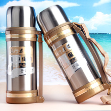 Large Capacity Vacuum Flask Stainless Steel Kettle Outdoor Travel Pot 1.2L Vacuum Insulation Pot eagle mouth stainless steel vacuum pot kettle black silver 1500m