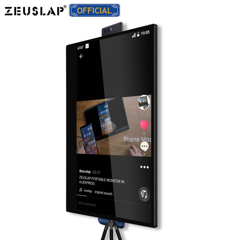 ZEUSLAP Ultra FHD 4K IPS Screen 10 Point Touch Portable Monitor For Tiktok Camgirl Live Show Or Video Game Streamer