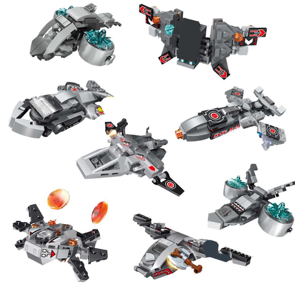 Мини-щит авианосцы Супер Герои совместимые Legoinglys Мини Космический корабль Железный человек Фигурки ниндзя игрушки для мальчика