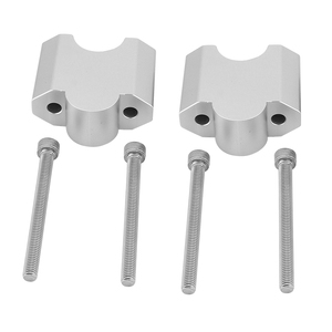 "Image 5 - KEMiMOTO 1 pair 2 Inch Handlebar Mount Clamp High Lifter Riser for INTRUDER M1800R 2"" Silver For Suzuki Boulevard M109R"