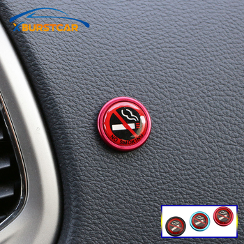 NO SMOKING Sign Tips Warning Logo Stickers for BMW F30 F10 F20 F31 F11 E46 E90 E39 E60 E36 E87 E30 E34 E53 X1 X3 X5 1-7 Series image