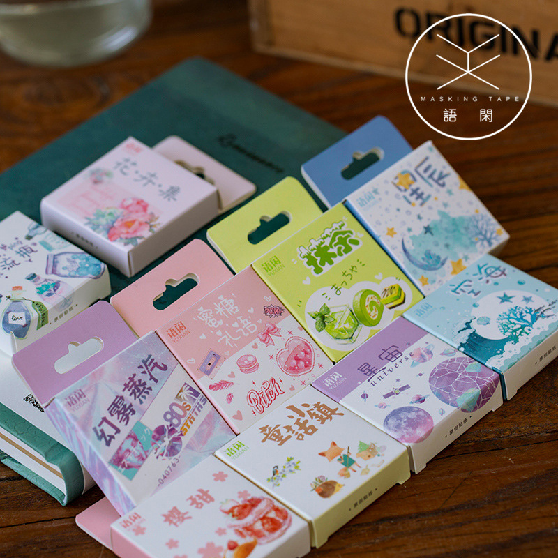 50pcs/pack Cute Flower Unicorn Posters Mini Paper Sticker Decoration Diary Scrapbooking Label Sticker Stationery 1