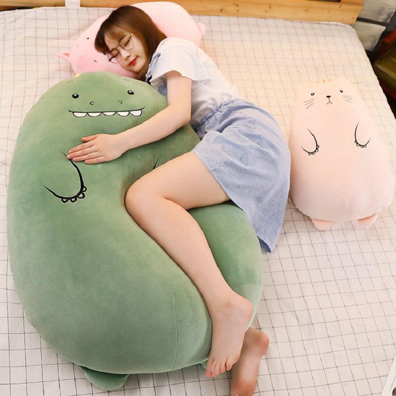 50-90cm Large Size Toys Soft Animal Pillow Cushion Fat Dinosaur Cat Bear Pig Sheep Plush Toy Stuffed Kids Birthyday Gift