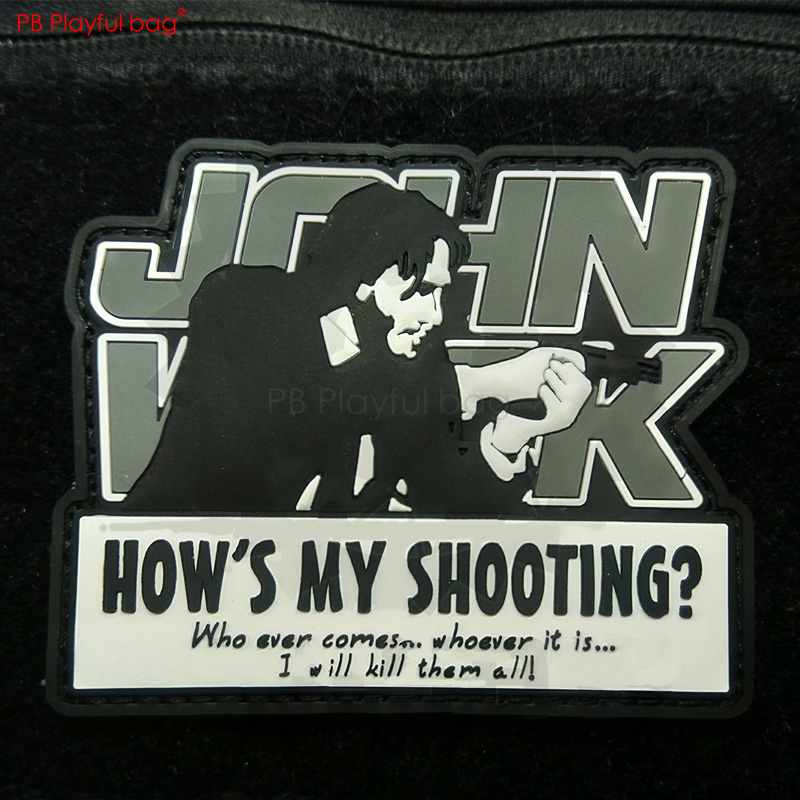 Playful Bag Outdoor Tactical Patch John Wick 2 Patch Creative CS Tactical Patch Movie John Wick Fans Loves L73