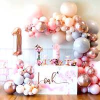 Globo de látex Pastel de macarrón para cumpleaños de niña, decoración de feliz cumpleaños, celebración de bebé, primer cumpleaños, decoración, Globos de aire, juguete para niños, 5-36 pulgadas