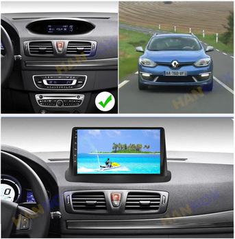 9'' IPS Android Car Radio For Renault Megane 3 2008 2009 2010 2011 2012 - 2014 Navigation GPS Multimedia Video Player 2Din DVD image