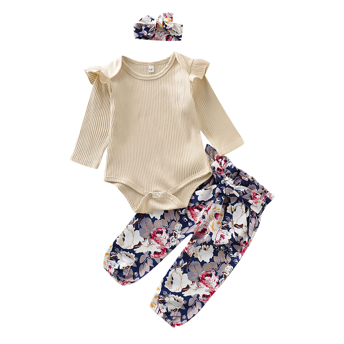 US Newborn Kid Baby Girl Ruffled Outfit Clothes Dress Tops Floral Leggings Pants