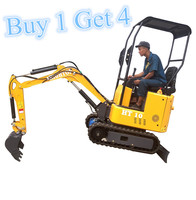 Mini Excavator 1ton  CE  EPA  EURO 5 Approved ONE machine coming with 3 attachments|Construction Tool Parts|   -