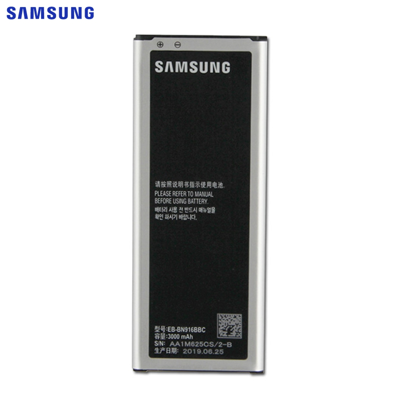 SAMSUNG Original Phone <font><b>Battery</b></font> EB-BN916BBC For Samsung GALAXY <font><b>NOTE</b></font> <font><b>4</b></font> N9106W N9100 N9108V N9109V EB-BN916BBE With NFC <font><b>3000mAh</b></font> image