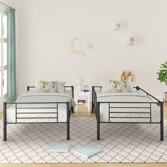 Twin Over Twin Loft Bunkbeds w/Metal Stairs 5