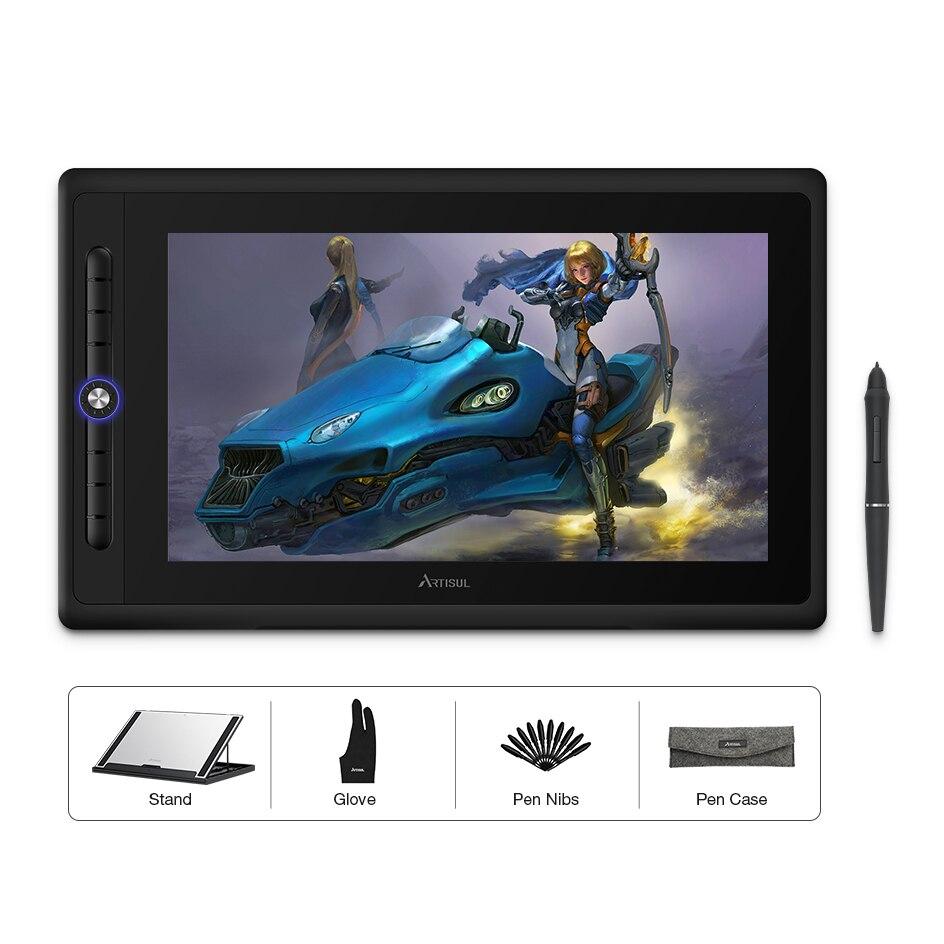 Artisul D16 PRO 15.6 pouces tablette graphique stylo de dessin numérique tablette moniteur avec touches de raccourci et un cadran