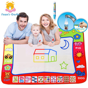 Drawing Mat for Kids Drawing Books Educational Toy Toddler Water Doodle Mat Painting Board with Magic Pen Xmas Christmas Gift fo